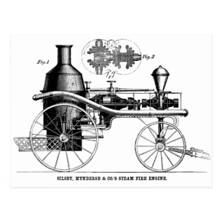 Silsby Rotary Steam Fire Engine Postcard