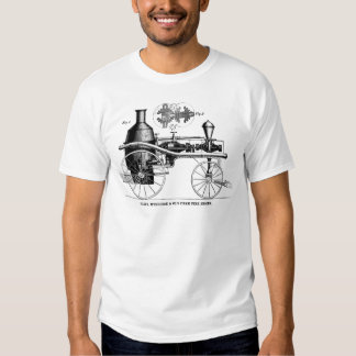 Silsby Rotary Steam Fire Engine Tee Shirt
