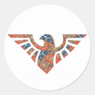 Silueta 08 de Eagle Pegatina Redonda
