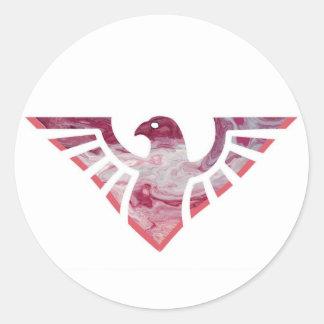 Silueta 10 de Eagle Pegatina Redonda