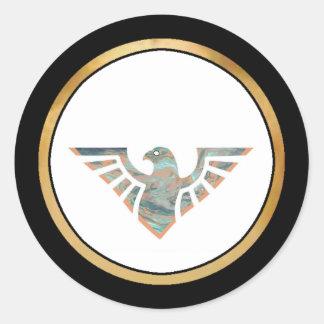 Silueta 11 de Eagle Pegatina Redonda