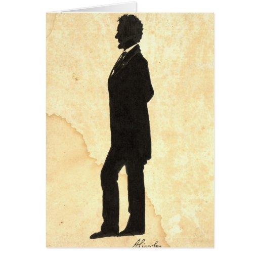 Silueta 1860 de Abraham Lincoln Tarjeta De Felicitación