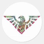 Silueta 18 de la plantilla de Eagle Etiqueta Redonda