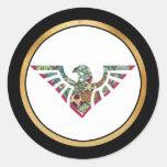 Silueta 18 de la plantilla de Eagle Pegatinas Redondas