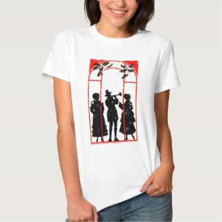 Silueta 1920 de los Carolers del navidad Camisas