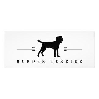 Silueta -1- de Terrier de frontera Fotografías