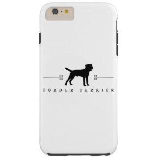 Silueta -1- de Terrier de frontera Funda De iPhone 6 Plus Tough