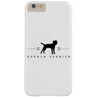 Silueta -1- de Terrier de frontera Funda De iPhone 6 Plus Barely There