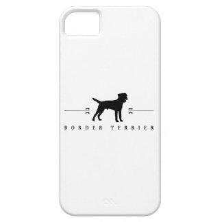 Silueta -1- de Terrier de frontera iPhone 5 Case-Mate Carcasa