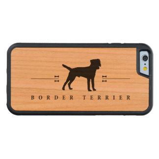 Silueta -1- de Terrier de frontera Funda De iPhone 6 Bumper Cerezo