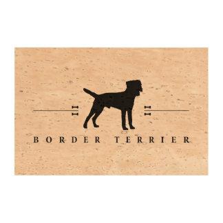 Silueta -1- de Terrier de frontera Papel De Corcho Para Fotos