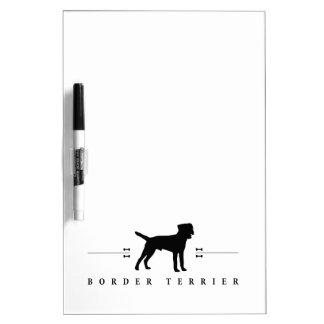 Silueta -1- de Terrier de frontera Pizarras Blancas