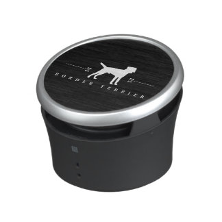 Silueta -2- de Terrier de frontera Altavoz Bluetooth