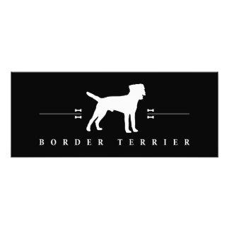 Silueta -2- de Terrier de frontera Cojinete
