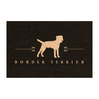 Silueta -2- de Terrier de frontera Papel De Corcho