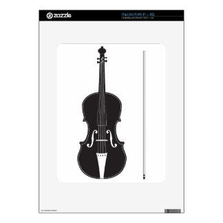Silueta 2 del violín calcomanías para iPad