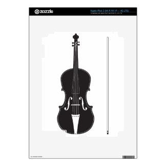 Silueta 2 del violín iPad 3 pegatinas skins