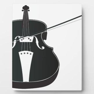 Silueta 2 del violín placas de madera