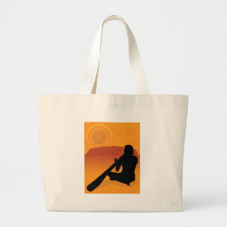 Silueta aborigen bolsa tela grande