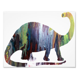 Silueta abstracta del Brontosaurus Cojinete