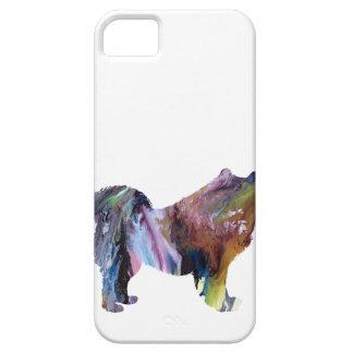 Silueta abstracta del samoyedo funda para iPhone SE/5/5s