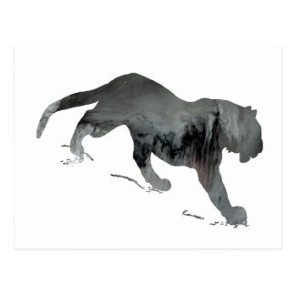 Silueta abstracta del tigre postales