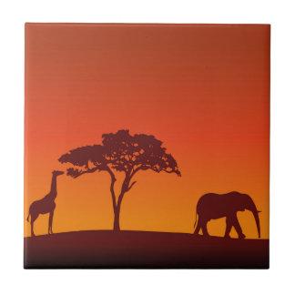 Silueta africana del safari - teja