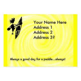 Silueta alegre de la canoa del kajak plantillas de tarjetas personales