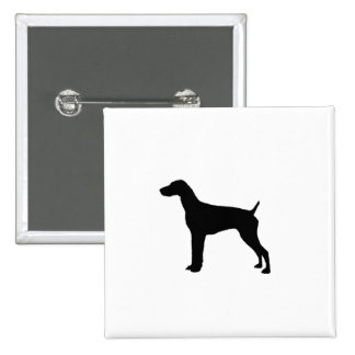 Silueta alemana del perro del indicador de pelo pin