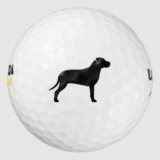 Silueta americana de Terrier de pitbull Pack De Pelotas De Golf