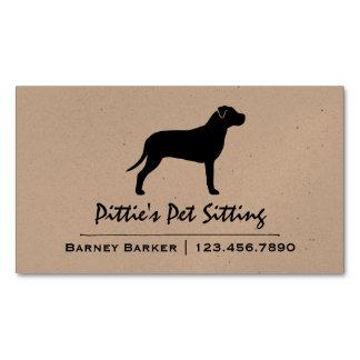 Silueta americana de Terrier de pitbull Tarjetas De Visita Magnéticas (paquete De 25)