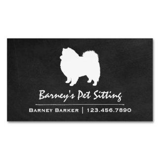 Silueta americana del perro esquimal tarjetas de visita magnéticas (paquete de 25)