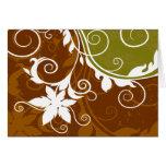 Silueta anaranjada Notecard de la flor Felicitaciones