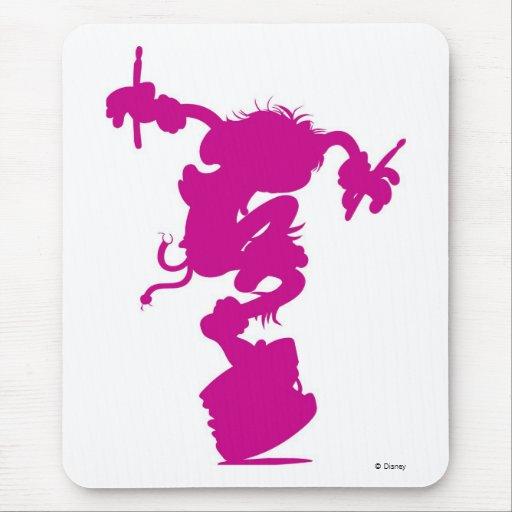 Silueta animal rosada que teclea Disney Alfombrillas De Ratón