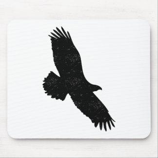 Silueta apenada de Eagle Mousepads
