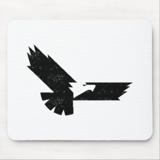 Silueta apenada de Eagle Mouse Pads