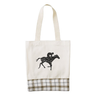 Silueta apenada de la carrera de caballos