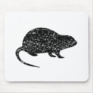 Silueta apenada de la rata alfombrilla de ratón