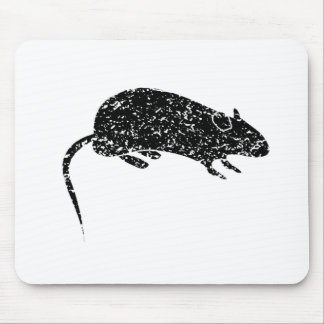 Silueta apenada del ratón alfombrilla de ratón