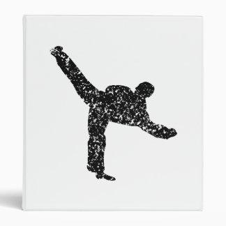 Silueta apenada del retroceso del karate carpeta 2,5 cm