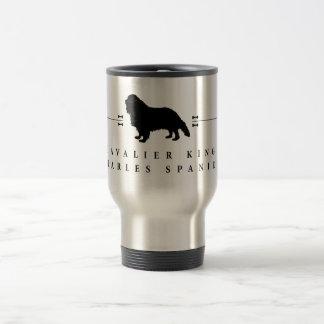 Silueta arrogante -1- del perro de aguas de rey taza de viaje