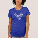 Silueta artística de Eagle Camisetas