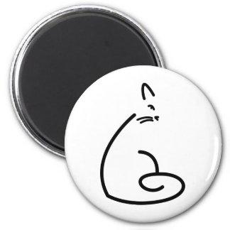 Silueta artística del gato de Swirly Imán