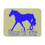 Silueta azul del caballo del trotón del Fox de Mis Iman
