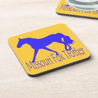 Silueta azul del caballo del trotón del Fox de Mis Posavasos De Bebida
