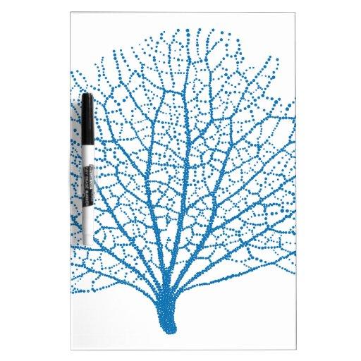 silueta azul del coral de la fan de mar pizarras