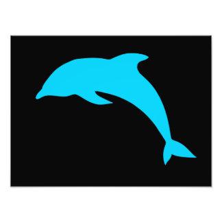 Silueta azul del delfín fotografía