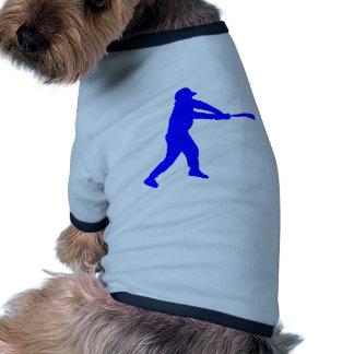 Silueta azul del talud del béisbol camiseta de mascota