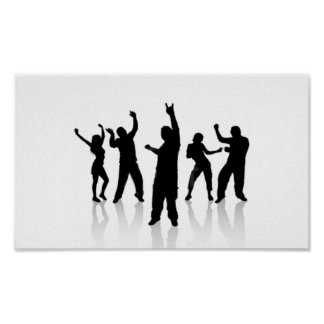Silueta baile impresiones