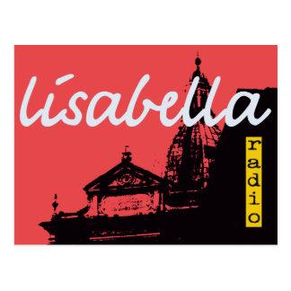 silueta bermellona dramática de la ciudad de Siena Postal
